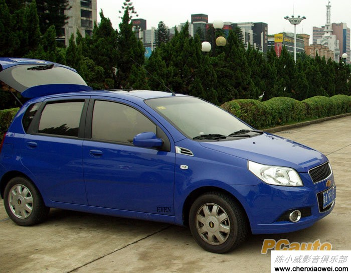 蓝色新乐骋改装汽车音响无损换装歌乐主机DFZ667MC高清图片