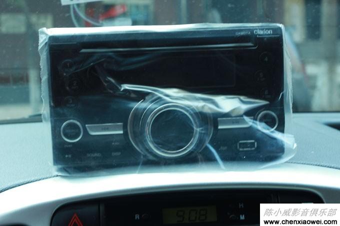 雅绅特音响改装作业,歌乐cx201a新款cd主机,方向盘控制按键高清图片
