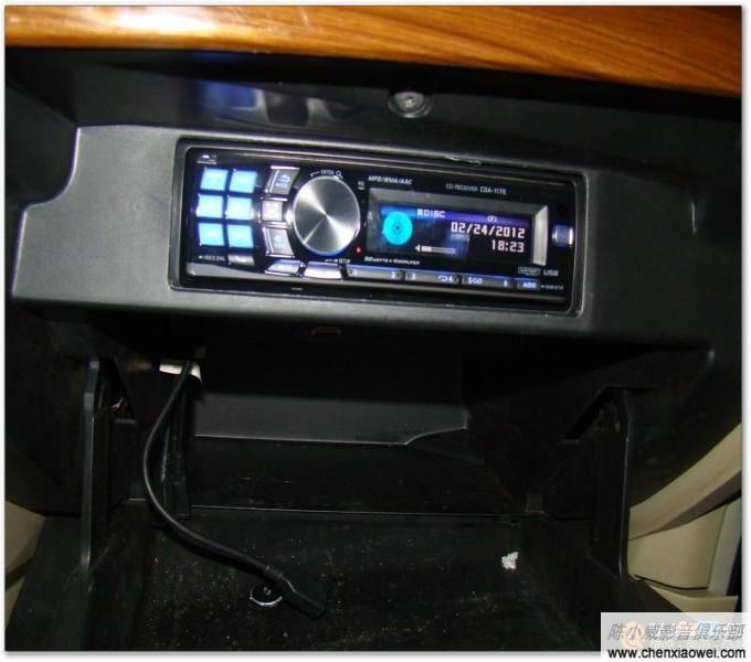日产天籁保留原车音响加装阿尔派CDA 117E音响主机效果图高清图片