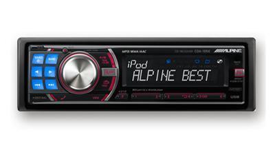 汉兰达升级音响系列 阿尔派高端cd机 cda 105e高清图片