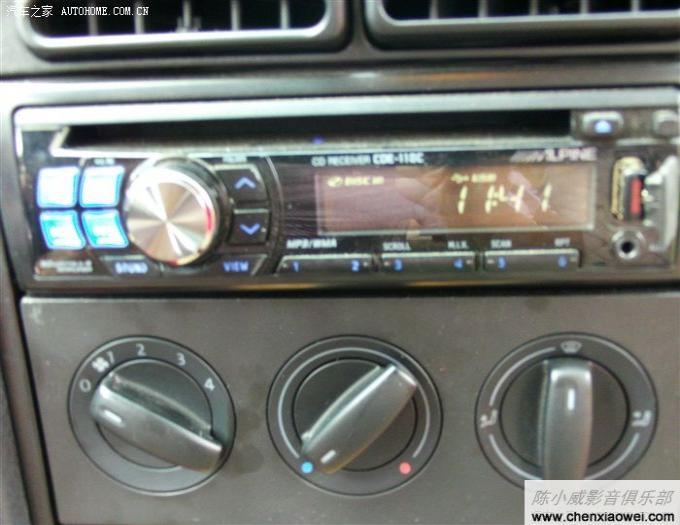 13款新捷达推出之际 给老捷达改装阿尔派CDE-110C音响焕发第二春