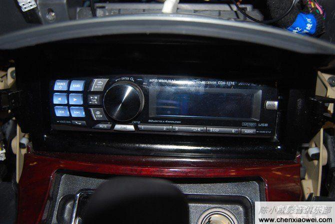 丰田toyota 锐志改装阿尔派 CDA-117E 倒模加装提升音质