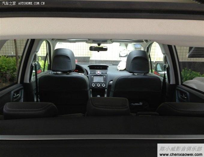 13款斯巴鲁森林人2.5精英版 新车改装歌乐nx501cxv专车专用dvd.