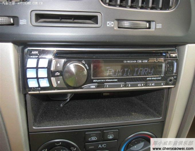 现代伊兰特原位改装车载cd机高清图片