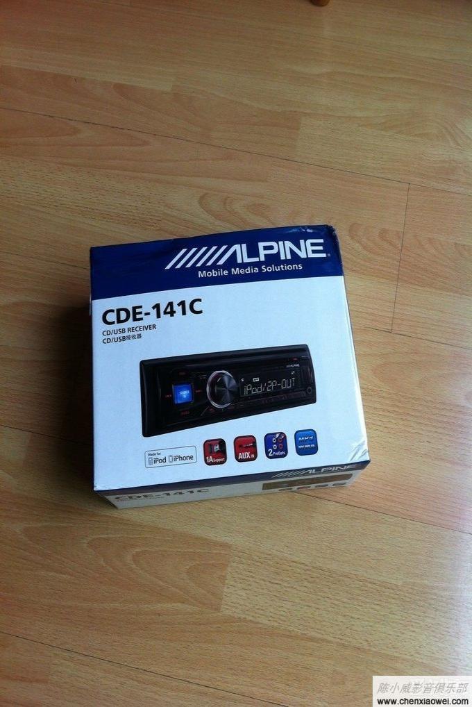 三岁小爱爱丽舍音响升级贺生日 阿尔派CDE 141C 大功率CD机 安装效高清图片