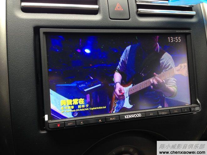 日产新阳光安装建伍dvd导航ddx6033btc效果图高清屏 建伍高清图片